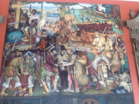 Detalhe mural Diego Rivera